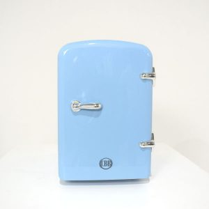 light blue beauty fridge