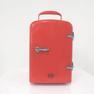 red cosmetic fridge