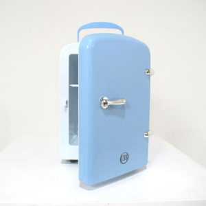 blue cosmetic fridge