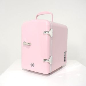 light pink cosmetic fridge