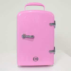 pink cosmetic fridge